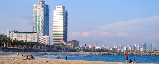 altiro playa beach barcelona verano